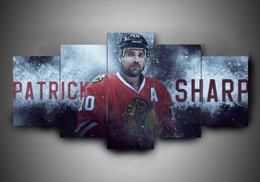 Chicago Blackhawks - Patrick Sharp - 5-Piece Canvas Wall Art - MyStorify