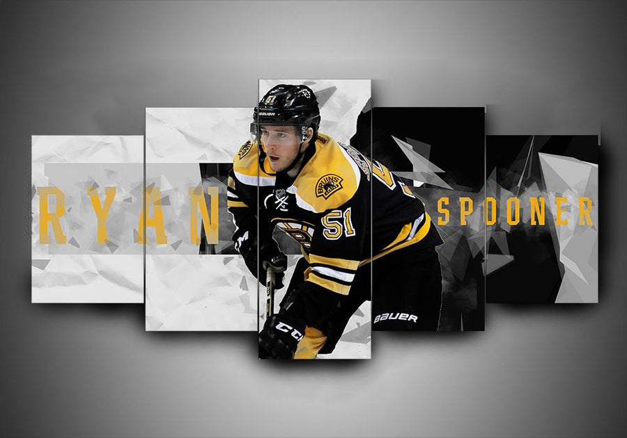 Boston Bruins - Ryan Spooner - 5-Piece Canvas Wall Art - MyStorify