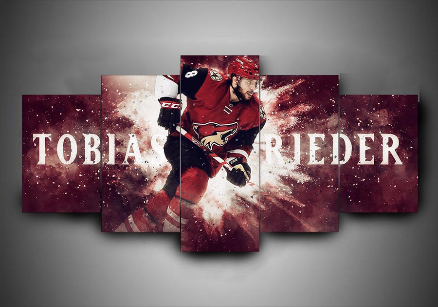 Arizona Coyotes - Tobias Rieder - 5-Piece Canvas Wall Art - MyStorify