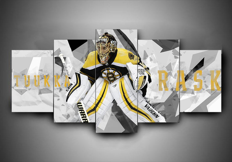 Boston Bruins - Tuukka Rask - 5-Piece Canvas Wall Art - MyStorify