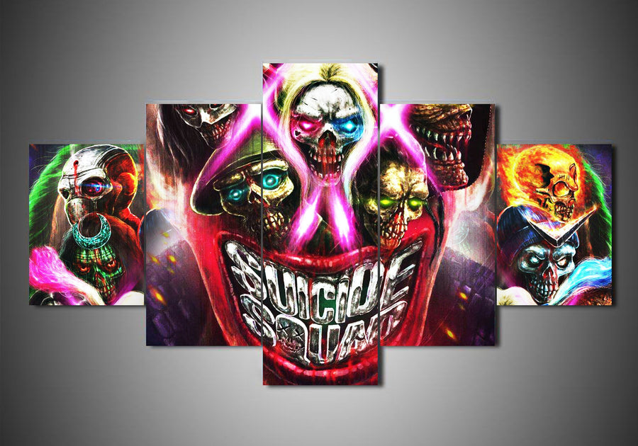 Suicide Squad - 5-Piece Canvas Wall Art