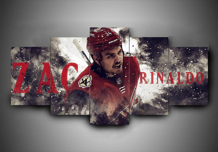 Arizona Coyotes - Zac Rinaldo - 5-Piece Canvas Wall Art - MyStorify
