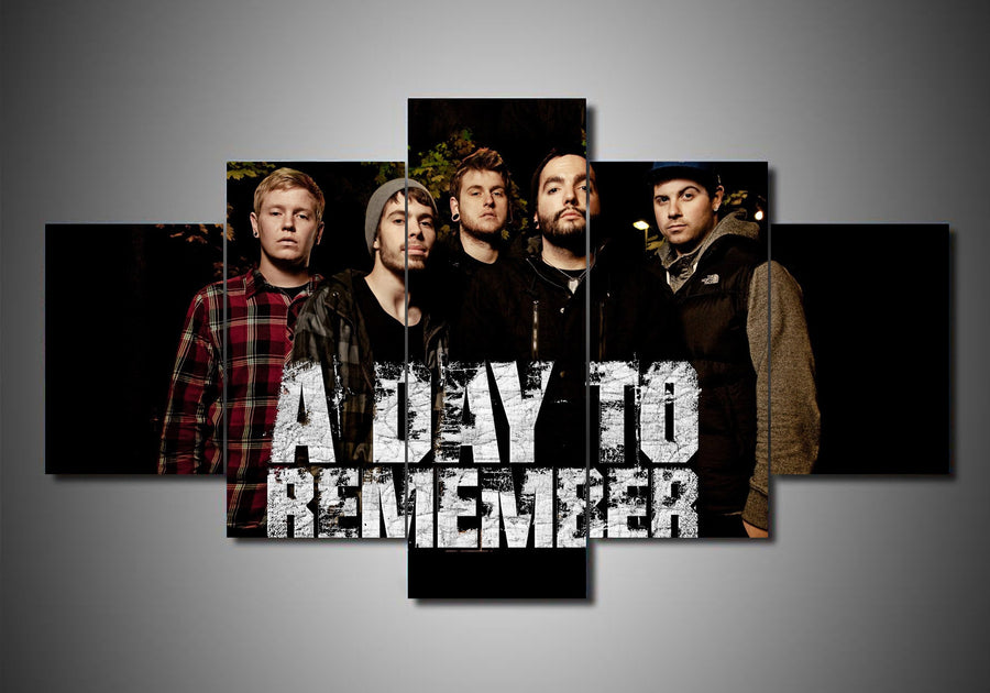 5-Piece Canvas Wall Art - A Day to Remember #2 - TheSevenShop