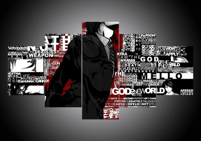 Death Note (2 Styles) - 5-Piece Canvas Wall Art-MyStorify