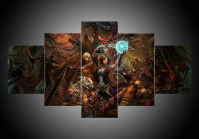 Diablo (2 Styles) - 5-Piece Canvas Wall Art-MyStorify