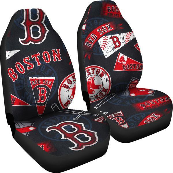 Boston Red Sox (2 Styles) - Car Seat Covers (2pc Set)
