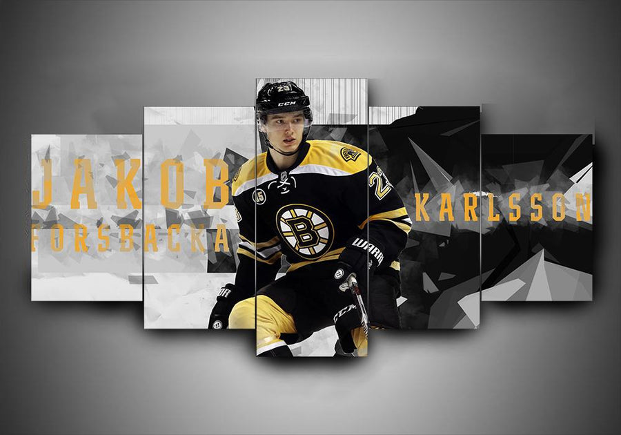 Boston Bruins - Jakob Forsbacka Karlsson - 5-Piece Canvas Wall Art - MyStorify