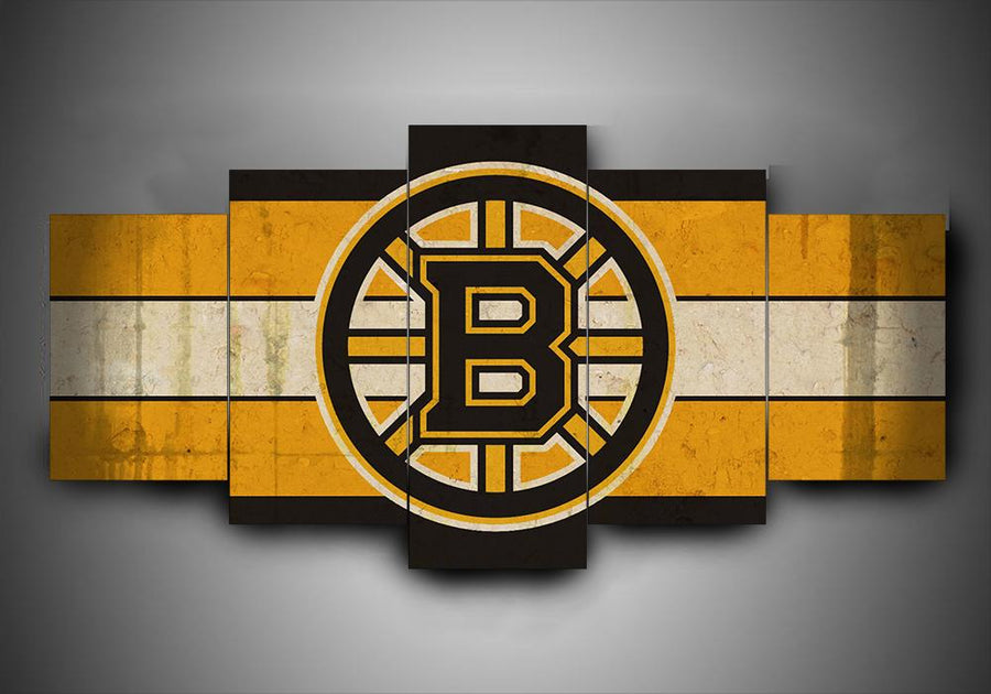 Boston Bruins - Team - 5-Piece Canvas Wall Art - MyStorify