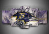 Baltimore Ravens - Team #1 - 5-Piece Canvas Wall Art - MyStorify