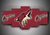 Arizona Coyotes - Team (3 Styles) - 5-Piece Canvas Wall Art - MyStorify