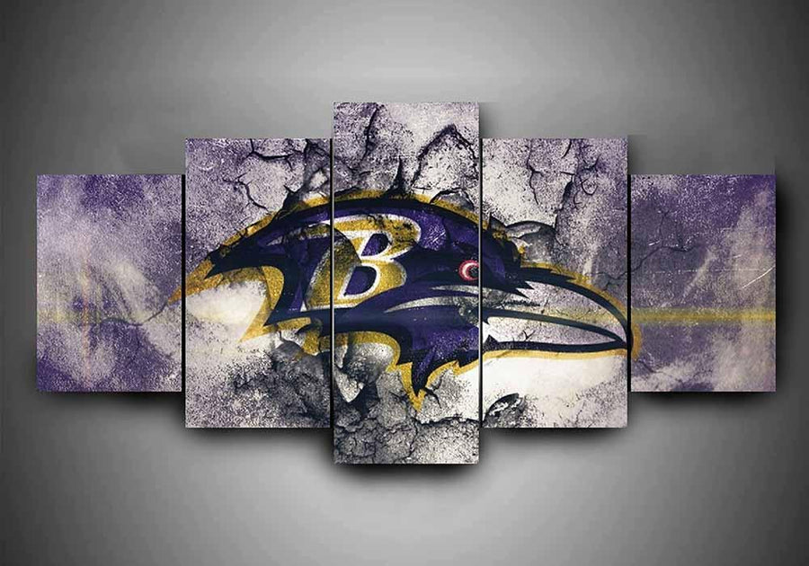 Baltimore Ravens - Team #1 - 5-Piece Canvas Wall Art