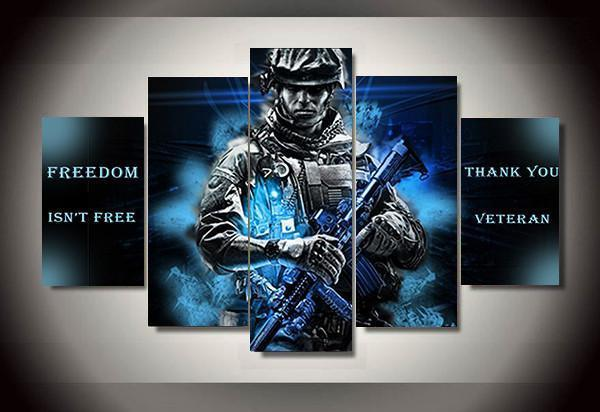 Soldiers (5 Styles) #2 - 5-Piece Canvas Wall Art