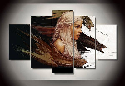 5-Piece Canvas Wall Art - Game of Thrones (5 Styles) #2 - TheSevenShop