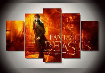 5-Piece Canvas Wall Art - Fantastic Beast (5 Styles) - TheSevenShop