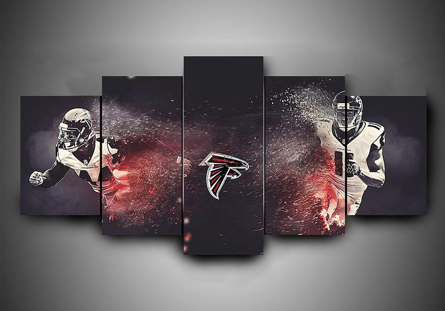 Atlanta Falcons - Team #2 - 5-Piece Canvas Wall Art