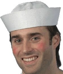 Smiffys Mens Doughboy US Sailor Hat, White, One Size, 5020570000892