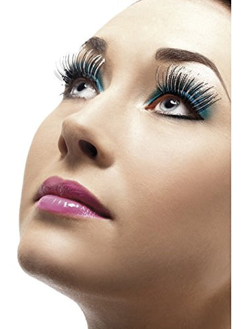 New 6x Silver Black Fake Eyelashes Fancy Dress Costume