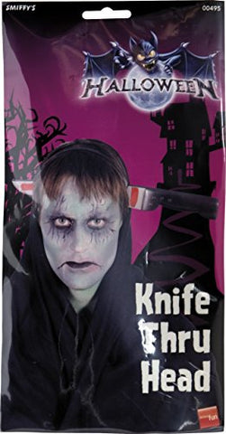 SMIFE Smiffys Knife Through Head - Large