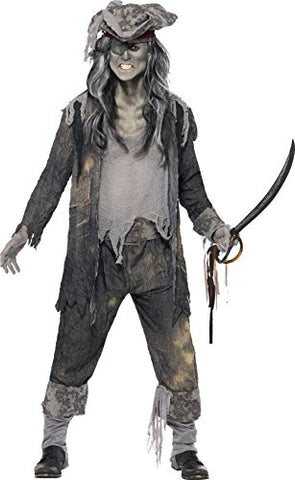 Smiffys Ghost Pirate Adult Fancy Dress Costume
