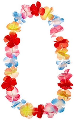 Hawaiian Garland, Silk Flowers - Multi Colour