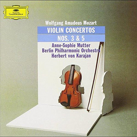 Anne-Sophie Mutter - Mozart: Violin Concertos 3 and 5 [VINYL] Vinyl