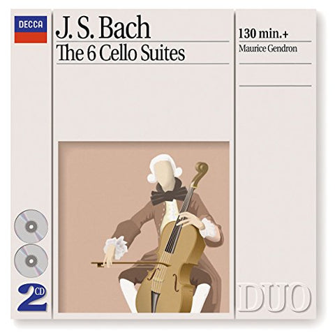 Maurice Gendron - Bach, J.S.: The 6 Cello Suites Audio CD