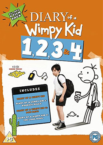 Diary Of A Wimpy Kid 1, 2, 3 and 4 [DVD]