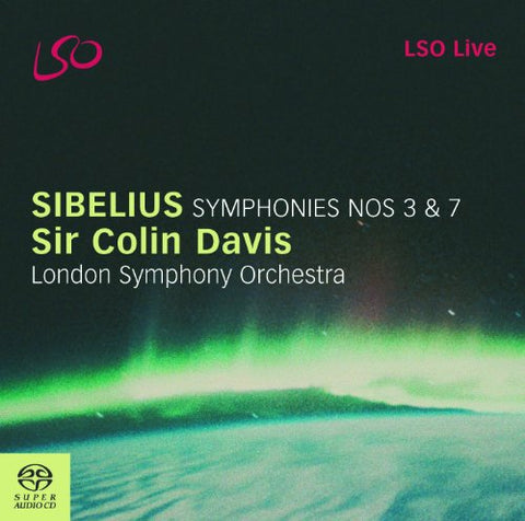 London Symphony Orchestra - Sibelius - Symphonies Nos 3 and 7 (LSO Davis) Audio CD