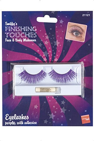 Smiffys Eyelashes Contains Glue - Black