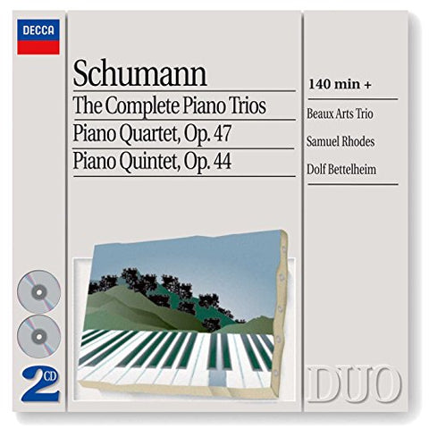 obert Schumann - The Complete Piano Trios/Piano Quartet/Piano Quintet Audio CD