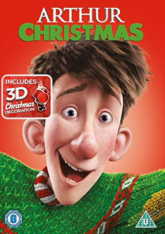ARTHUR CHRISTMAS WITH XMAS DECORATION DVD