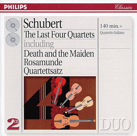 Franz Schubert - Schubert: The Last Four Quartets including Death and the Maiden, Rosamunde, Quartettsatz Audio CD