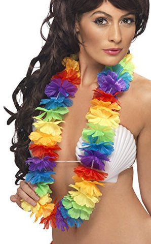 Smiffys Bright Rainbow Lei - Large