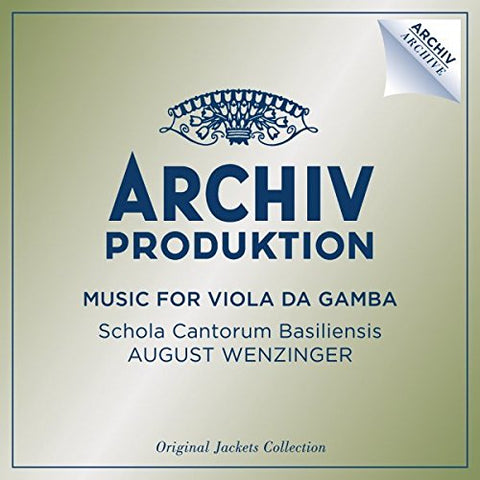 August Wenzinger - Music For Viols Audio CD