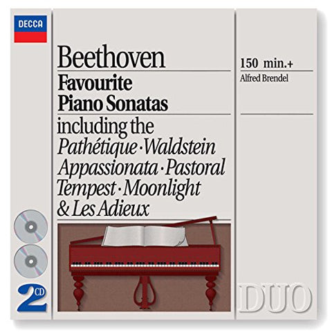 Alfred Brendel - Beethoven: Favourite Piano Sonatas Audio CD