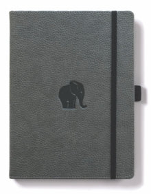 Dingbats A4+ Wildlife Grey Elephant Notebook - Lined - Dingbats A4+ Wildlife Grey Elephant Notebook - Lined