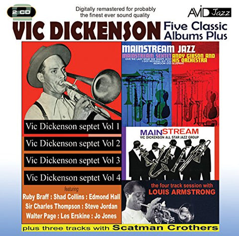 Vic Dickenson - Five Classic Albums Plus (Vic Dickenson Septet #1 / #2 / #3 / #4 / Mainstream Jazz) Audio CD