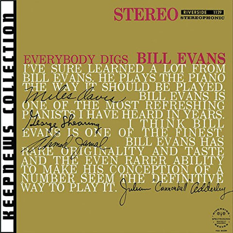 Bill Evans - Everybody Digs Bill Evans Audio CD