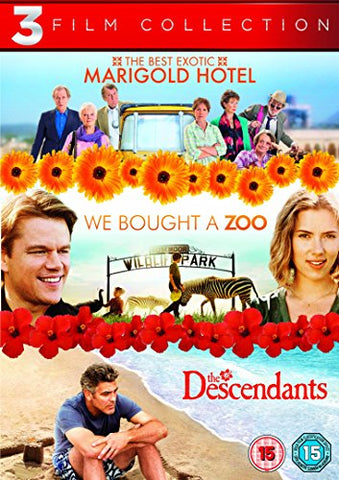 The Best Exotic Marigold Hotel / We Bought a Zoo / The Descendants Triple Pack [DVD] [2012]