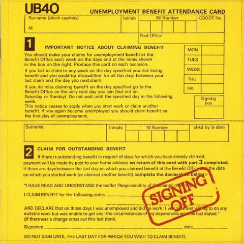 UB40 - Signing Off Audio CD