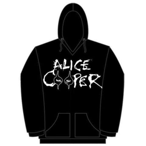 Alice Cooper Men Eyes Logo Hoodie, Black, Medium