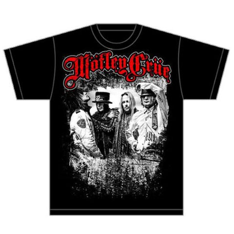 Rock Off Motley Crue Mens Greatest Hits Bandshot Regular Fit Round Collar Short Sleeve T-Shirt, Black, Small
