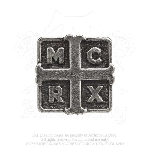Alchemy Rocks My Chemical Romance Cross Pin Badge