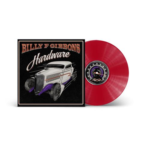BILLY F GIBBONS - HARDWARE TRANSPARENT RED VINYL Released On 04/06/2021 *Exclusive Pair of Billy F Gibbons Sunglasses*