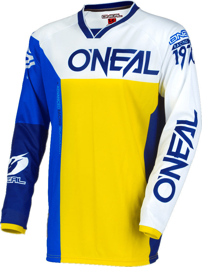 ONeal Mayhem Split MX Jersey blue / yellow