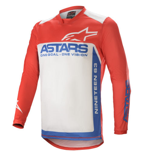 Alpinestars Racer Supermatic MX Jersey Bright Red / Blue / Off White