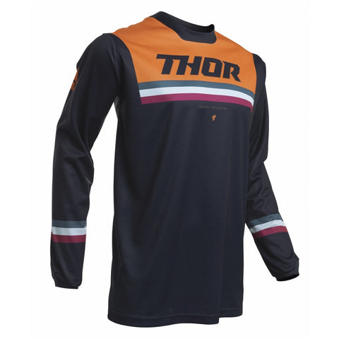 THOR MX JERSEY PULSE PINNER Midnight/Orange