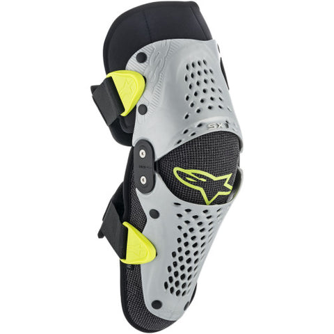 Alpinestars SX 1 Youth MX Knieprotektor fluo yellow / grey