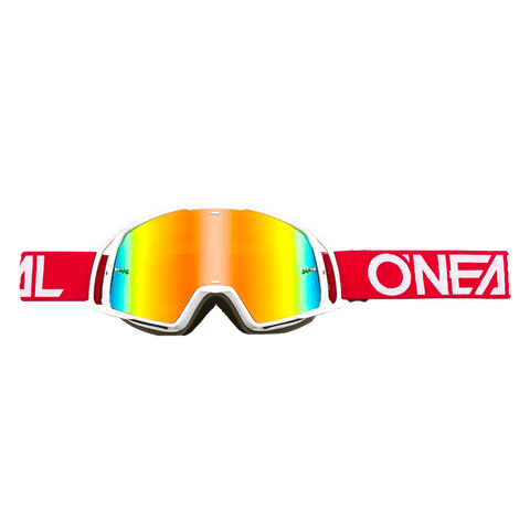 ONEAL B-20 GOGGLE FLAT red / white