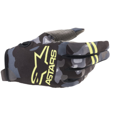 Alpinestars Radar Handschuhe gray camo / yellow fluo